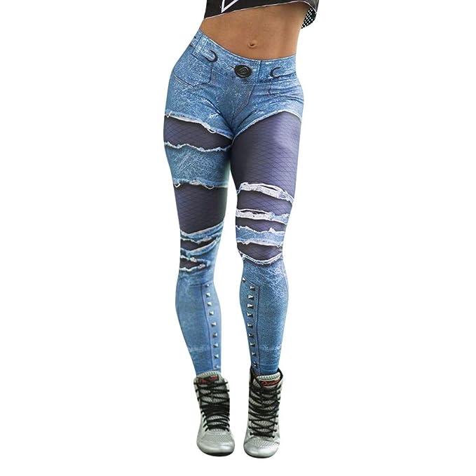 Leggings Yoga Mujer Pantalones Deportivos Largos Leggings,Yusealia Leggins Mujer Fitness Cintura Alta Estampado de