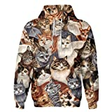 SAYM Unisex Galaxy Pockets Casual Pullover Hooded