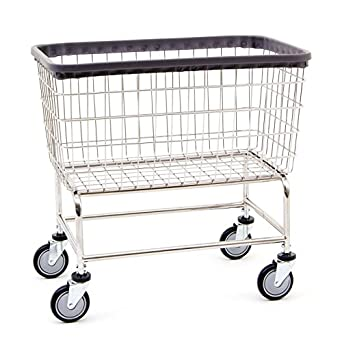 d80d3bbaa2c2 R&B Wire 200F Large Capacity Wire Laundry Cart, 4.5 Bushel, Chrome