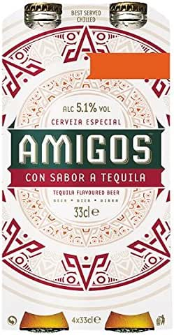 Amigos Sabor de Tequila Beer 4 x 33cl (Pack de 6 x 4x330ml): Amazon.es: Alimentación y bebidas