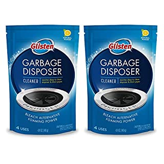 Glisten DP06N-PB Garbage Disposer Foaming Cleaner, Lemon Scent, 2-Pack (8 Uses), Blue, 9 Ounce