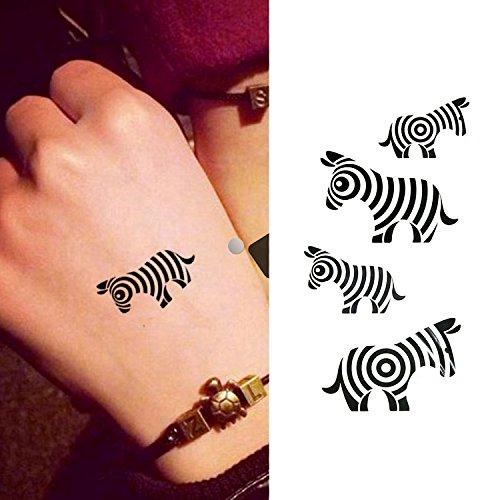 Oottati 15 Hojas Pequeñas Cute Tatuajes Temporales Árbol Corazón Gato Tótem Dragón Mariposa Cebra Corona Delfín: Amazon.es: Belleza