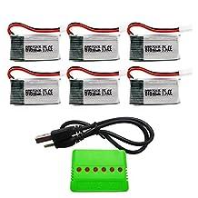 BTG 3.7V 350mAh Battery & X6 Charger for HS170 HS107C F180W F180C Drone Syma X11 JJRC H6D H6C H98 Hubsan H107C H107D H107L H108 M61X M62R Drone