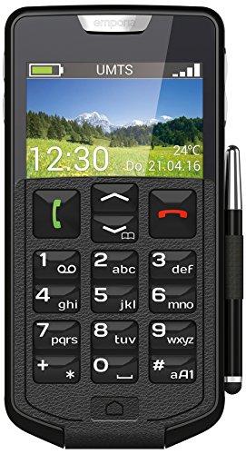Emporia Smart Smartphone (11,40 cm (4,5 Zoll) IPS Display, 8 Megapixel Kamera, 1,3GHz Quad Core Prozessor, 4GB Interner Speicher,  512 MB Arbeitsspeicher, Android 4.4.2) schwarz