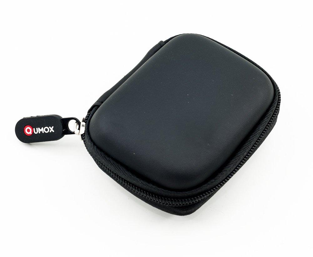 QUMOX Black Memory Card Bag Hardcase for SD MicroSD CF Case Zipper Cover product image