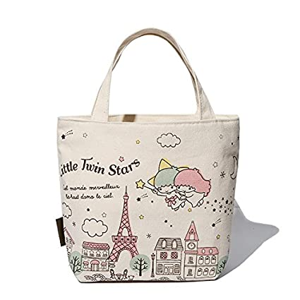 27d1491c4764 Image Unavailable. Image not available for. Color  Hadaboo Cute Cartoon  Canvas Kids Lunch Bag mochila Women ...