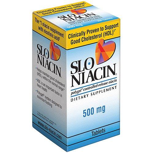 Slo-Niacin Niacine à libération contrôlée -150 Comprimés 500 mg