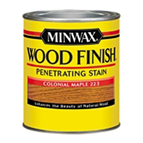 Minwax 22230 1/2 Pint Wood Finish Interior Wood Stain, Colonial Maple by Minwax