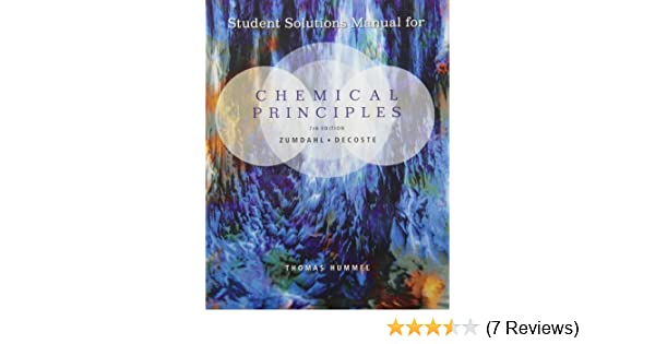 student solutions manual for zumdahl decoste s chemical principles rh amazon com Introductory Chemistry 8th Edition Steven S. Zumdahl