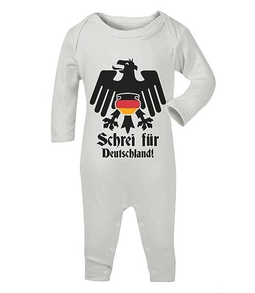 Águila pañales divertido Baby Fan Grito para Alemania Baby Pelele Pelele Blanco Weiß: Amazon.es: Ropa y accesorios