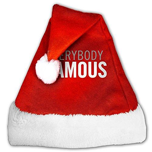 Cap EVERYBODY FAMOUS Plush Cool Novelty Santa