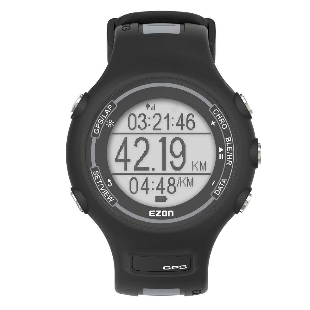 1KTon EZON T907-hr Fitness Activity Track Watch with GPS Running Sports Watch by 1KTon
