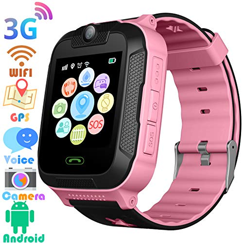 Phone Built In Gps - 3G Kids Smart Watches GPS Tracker - Kids Android Smart Watch Phone for Boys Girls with 1.4