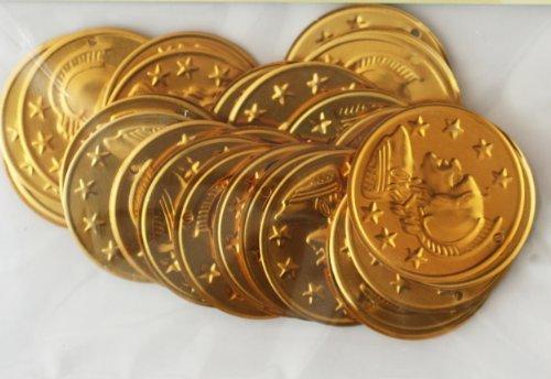 - ~ Jingle Charm Coins ~ Lightweight aluminum ~ Gold Plated 29mm (1 1/4