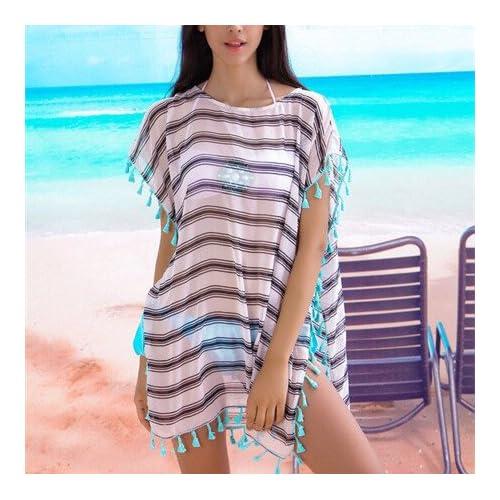 GenialES Pareo Bikini A Rayas Túnica Playa Verano Beach Bikini ... 977753d76f2