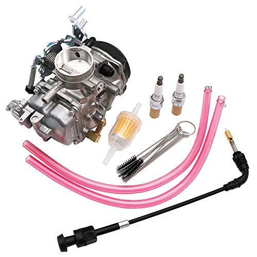 (KIPA Carburetor For Harley Davidson Dyna Electra Glide Fatboy Softail Sportster 1200 XLH1200 Sportster 883 XL883 XLH883# 27490-04 CV40 CV 40mm Tuned Performance Including a free gift new spark plug)