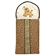 Disney Lion King Simba's Wild Adventure Appliqued Diaper Stacker, Ivory, Brown, Sage, Tan