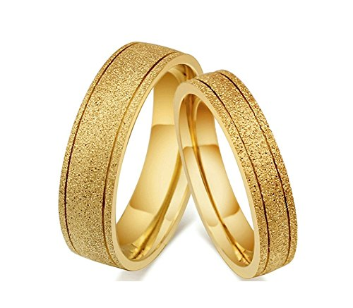 Jiedeng Jewelry Couple Ring Stainless Steel Ring Simple Style Friendship Promise Anniversary Engagement Wedding Ring For Women And Men Gold With Gift Bag Buy Online In Jamaica Jiedeng Products