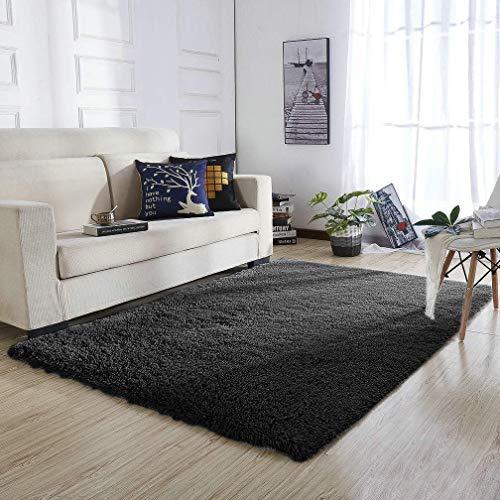YOH Super Soft Polyester Fiber Area Rugs Silky Smooth Bedroo