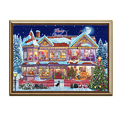 HHmei Christmas Diamond Rhinestone Pasted Embroidery Painting Cross Stitch Home Decor Decorations Outdoor Tree Table Lights Blue Home Set Silver Wall Ornaments Place Card Holders 25E