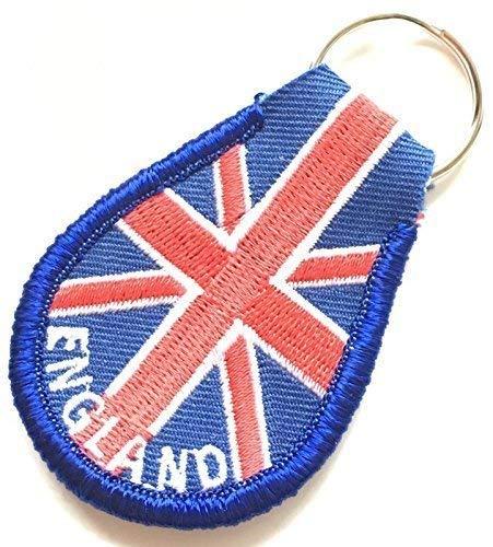 Inglaterra en la Union Jack Bordado Llavero mando llave con ...