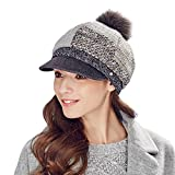 Kenmont Lady Luxury Women Grey Color Beret Hat For Vacation Winter Cap