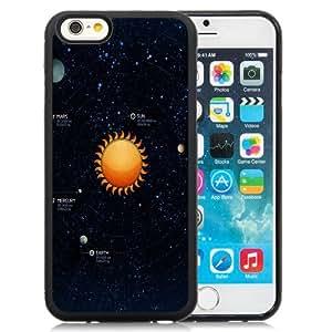 Fashionable Custom Designed iPhone 6 4.7 Inch TPU Phone Case With Solar System Illustration_Black Phone Case