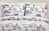 Envogue Kids Girls 3 Piece All Season Full/Queen ''I Love Paris'' Comforter Set   Features Eiffel Tower and other Paris Landmarks