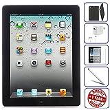 Apple iPad 2 Tablet 16GB, 32GB, 64GB - Wifi, Black 2nd Generation | Bundle Includes: Case, Tempered Glass, Stylus Pen, 1 Year Warranty (16GB, Black) (Certified Refurbished)