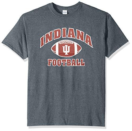 Elite Fan Shop NCAA Men's Indiana Hoosiers Football T-shirt Dark Heather Indiana Hoosiers Dark Heather XX Large