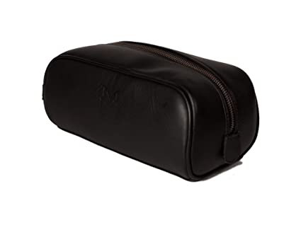 Buy Maximon Leather Maximon Handsome Full Grain Leather Dopp Kit   Luxury  Lifestyle Travel Accessories for Men   Business Man Gifts (Black f7d77265924c9