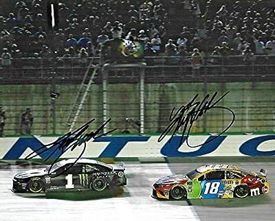 2019 Kurt Busch & Kyle Busch Kentucky Race Dual Signed 8x10 Auto Photo COA - Autographed NASCAR Photos