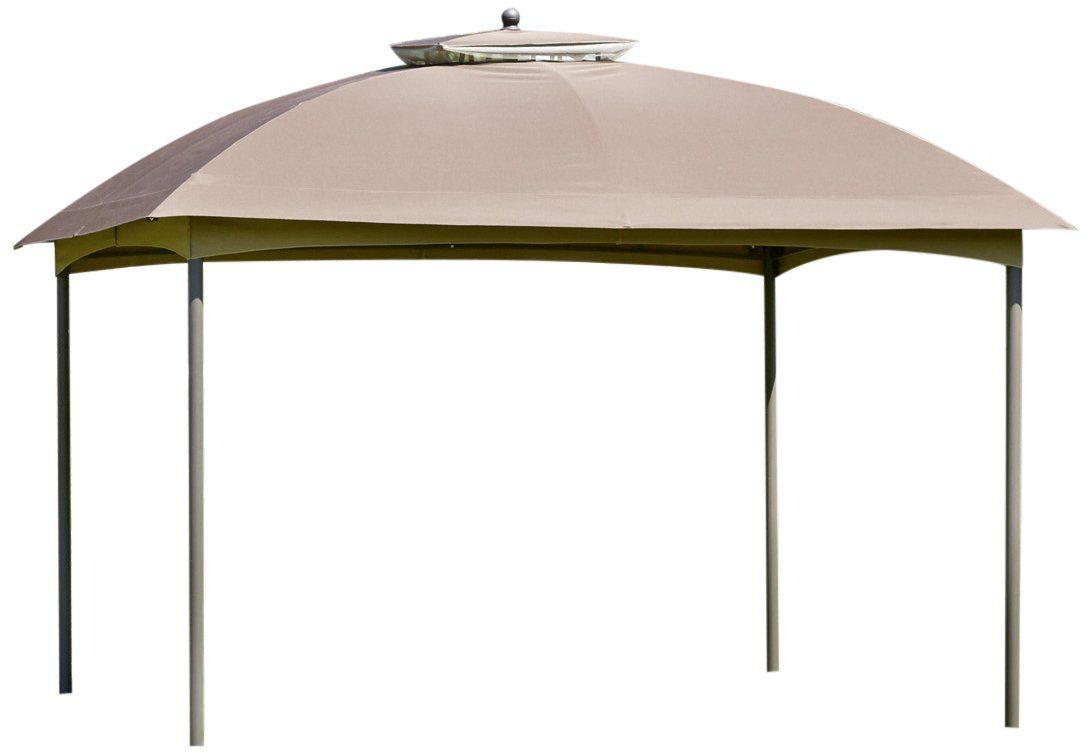 greemotion Pavillon Mailand braun, wasserabweisendes Dach mit UV-Schutz 50+, PA-beschichtet, Gartenpavillon mit kunststoffummanteltem Stahlgestell, schnelle Montage, Maße: ca. 300 x 360 x 270 cm