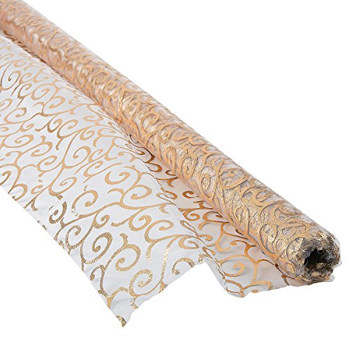 Victorian Gold Printed Fabric Roll (Victorian Fabric)