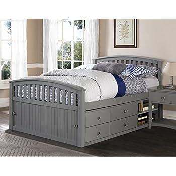 ne kids barrett bed full grey finish