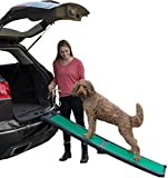 Pet Gear Travel Lite Ramp with supertraX Surface for Maximum Traction, 4 Models to Choose from, 66 in. Long, Supports 150-200 lbs, Find the Best Fit for Your Pet