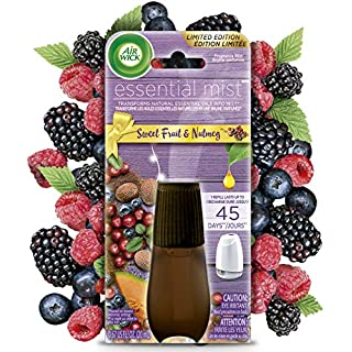 Air Wick Essential Mist, Essential Oils Diffuser, Sweet Fruit and Nutmeg, 1ct, Fall scent, Fall spray, Air Freshener, Packaging May Vary