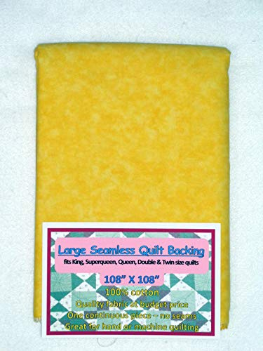 (Quilt Backing, Large, Seamless, C44395-502, Vibrant Yellow)