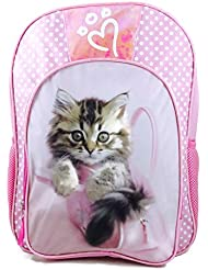 Rachael Hale Pink Kitty Cat Kitten in Purse School Sized Backpack
