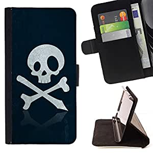 For LG Nexus 5 D820 D821 Skull Pirate Sign Emblem Art Bones Slogan Style PU Leather Case Wallet Flip Stand Flap Closure Cover