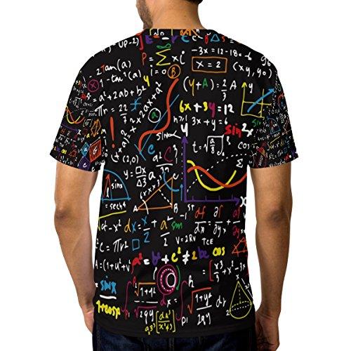À Courtes Maths Cou Coloré Manches Doodle Drôle Décontracté De Du Homme T shirt Alaza Ras Multicolore nwFxYTqSH