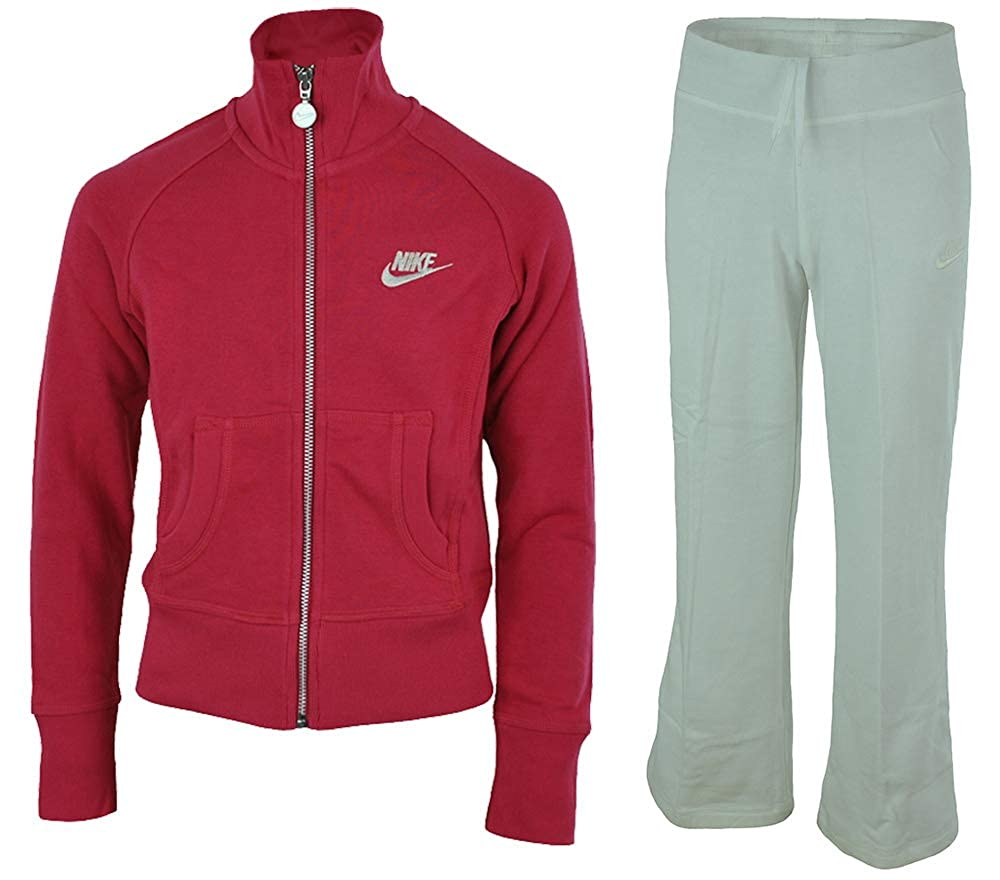 Nike Girls Sweat Suit Chándal de niña Rosa/Blanco, Tamaño:128-140 ...