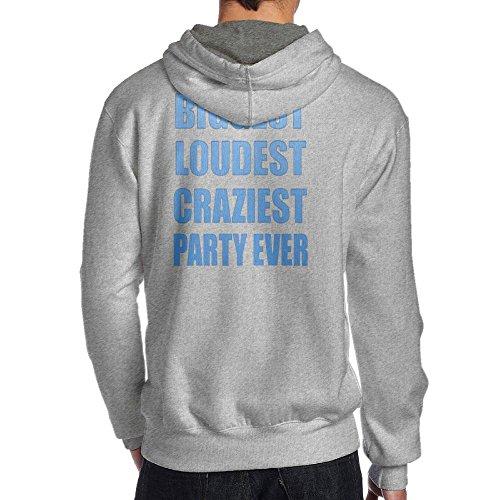 iest Party Ever Spring Autumn Long Sleeve for Men Custom Hoodie Sweatshirt (Back) SizeKey1Ash ()
