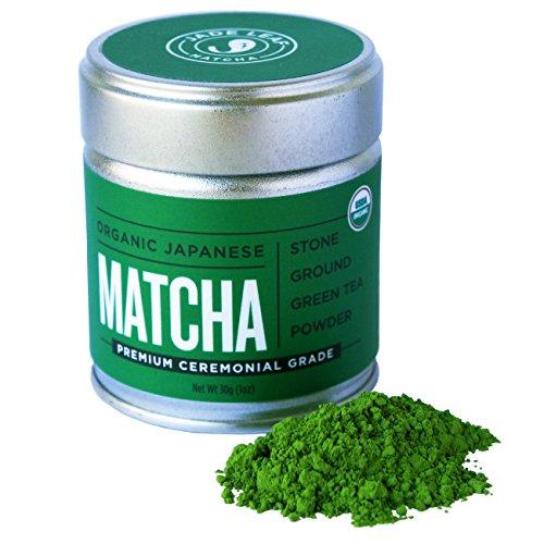Jade Leaf Matcha Green Tea Powder - USDA Organic - Premium Ceremonial Grade (For Sipping as Tea) - Authentic Japanese Origin - Antioxidants, Energy [30g Tin] by Jade Leaf Matcha