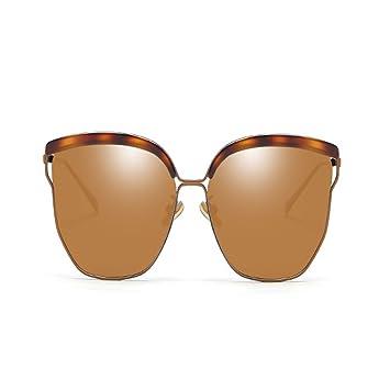 NUBAO Gafas De Sol Mujer Cara Redonda Gafas De Sol Polarizadas Gafas Retro UV Grandes Gafas