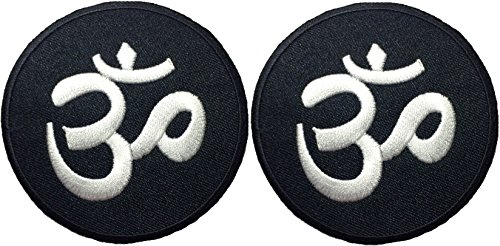 [Set 2 of Aum Om Infinity Hindu Hindi Hinduism Yoga Indian Trance Sew Iron on Embroidered Patch -] (Diy Halloween Costume Boxer)