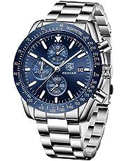 BENAYR Orologio Uomo analogico al quarzo cronografo Moda Sportivo orologio da polso da uomo 30M impermeabile Elegante Regalo per Uomo