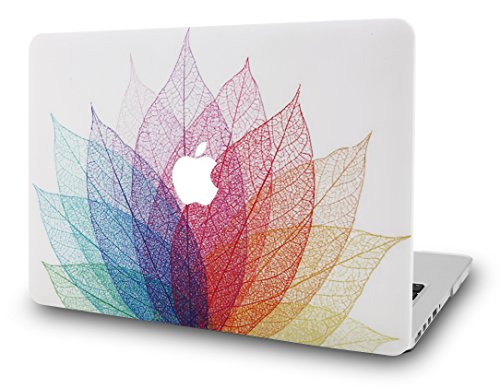 KEC Laptop Case for MacBook Air 13 Plastic Case Hard Shell Cover A1466 / A1369 (Leaf - Colorful 2)