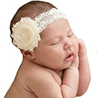 Miugle Baby Girl Lace Headbands with Bows