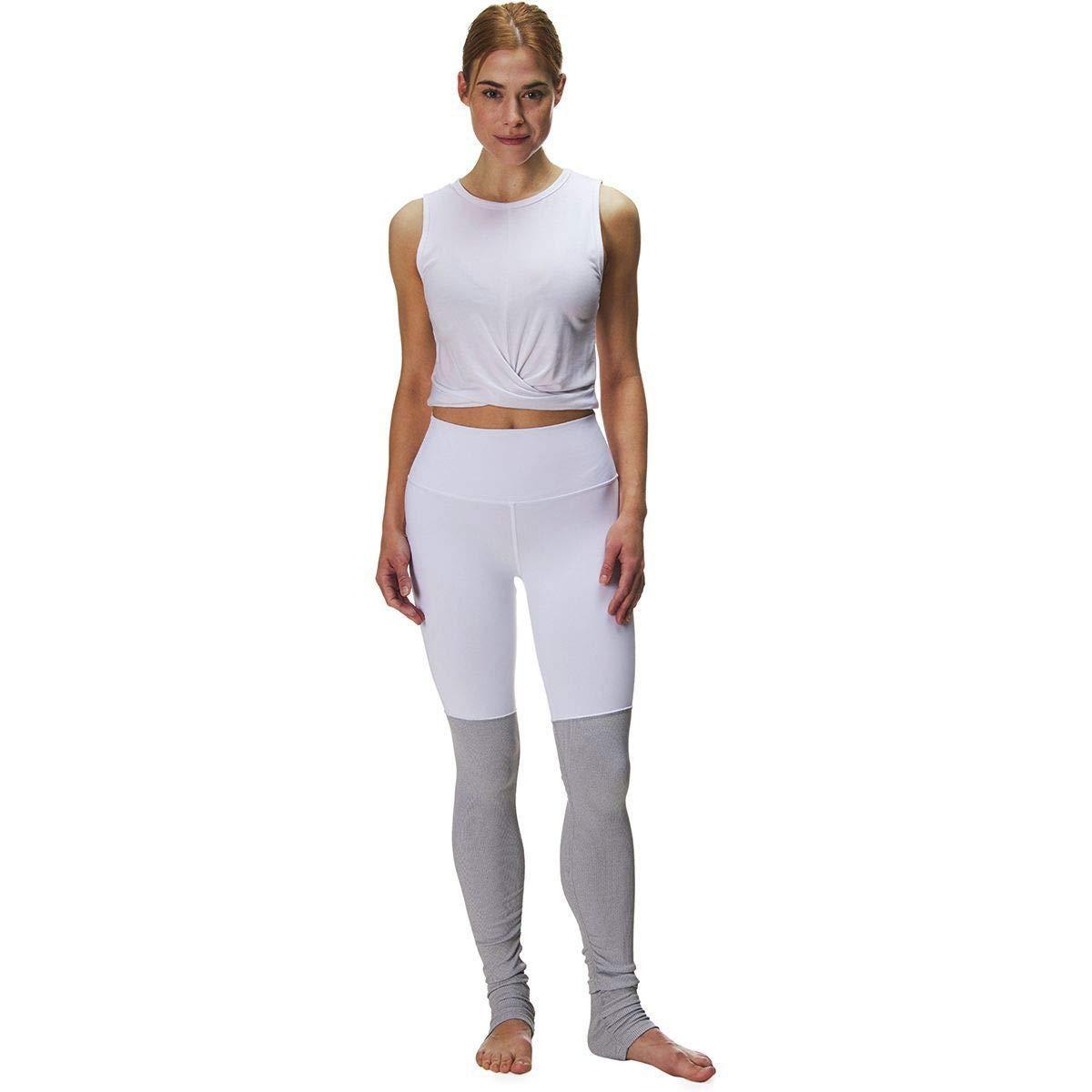 Alo Yoga High-Waist Goddess Legging - Women's White/Dove Grey Heather, XS by Alo Yoga (Image #3)